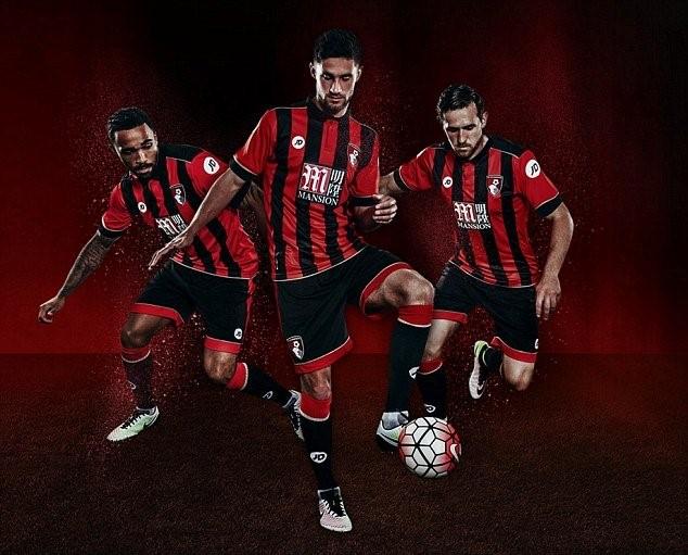 Về cơ bản áo đấu của Bournemouth không khác nhiều so với mùa giải trước