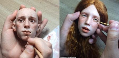 Mọi chi tiết trên gương mặt búp bê đều được Zajkov làm một cách cẩn thận bằng tay