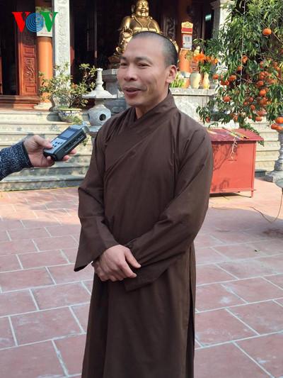 Thượng toạ Thích Thanh Lịch, phó ban Trị sự GHPGVN tỉnh Quảng Ninh