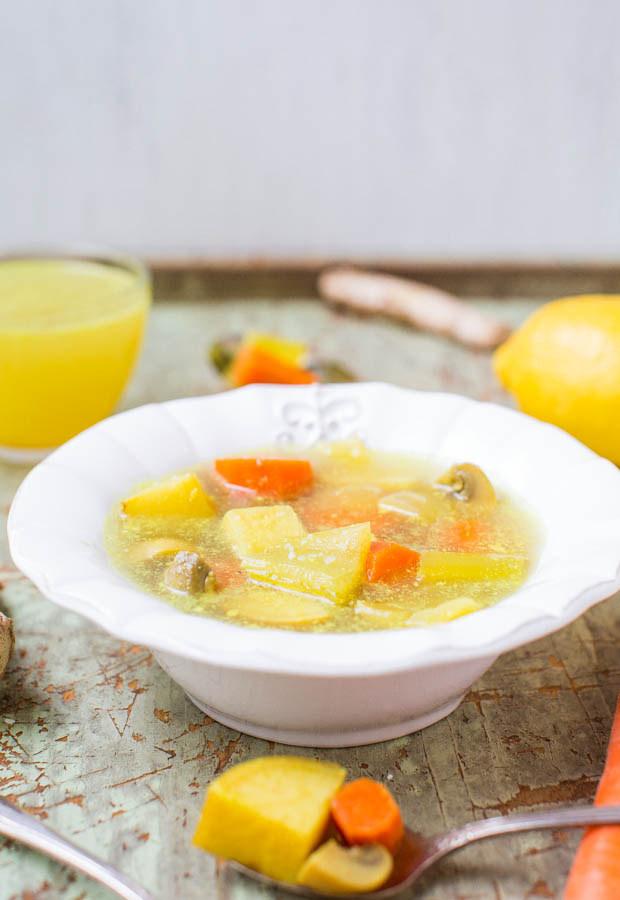 Súp rau tổng hợp khoai tây, cà rốt