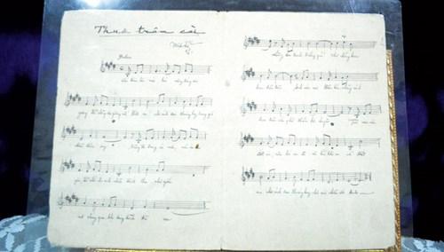 """Bài hát """"Thuở trâm cài"""" của nhạc sĩ Đoàn Chuẩn (trích đoạn)."""