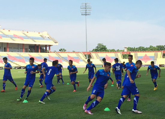 Chiều 2/6, ĐT U21 Việt Nam đã có buổi tập làm quen với sân Hang Jebat.