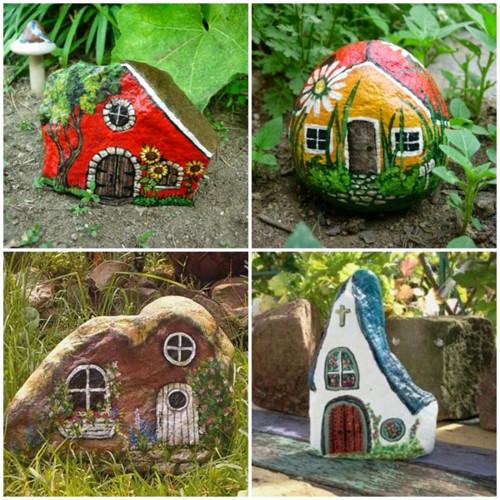 Vẽ trên đá là một sáng tạo để trang trí cho khu vườn