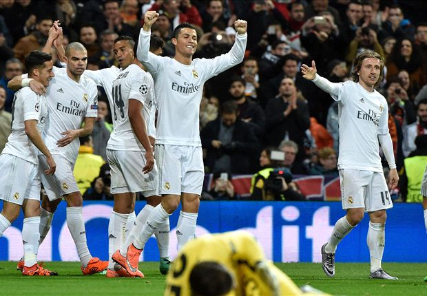 Ronaldo ghi 2 bàn ở 2 lượt trận để đưa Real Madrid vào tứ kết (Ảnh: Getty)