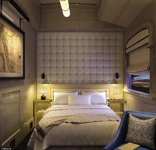 Hành khách có thể chọn các toa nghỉ được thiết kế giống như buồng ngủ sang trọng. Có cả buồng hai giường ngủ. Các phòng đều có buồng toilet và phòng tắm với vòi hoa sen riêng biệt.