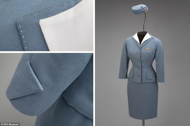 Mẫu trang phục của Pan American World Airways (Pan Am) là tác phẩm của nhà thiết kế Don Loper năm 1959, với vóc dáng mô phỏng theo chiếc đồng hồ cát.