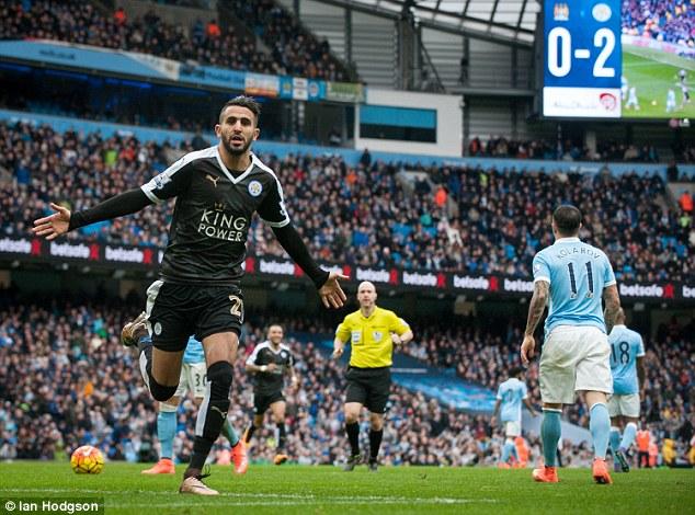Mahrez tỏa sáng với 1 bàn thắng và 1 đường kiến tạo trong cuộc đọ sức với Man City