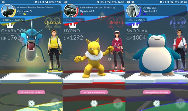 Người chơi Pokémon GO có thể chọn Pokémon bảo vệ các Gym của mình (Ảnh: The Guardian)