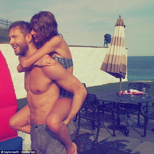 Taylor Swift và bạn trai Calvin Harris trong một bức hình được đăng trên tài khoản Instagram của cô