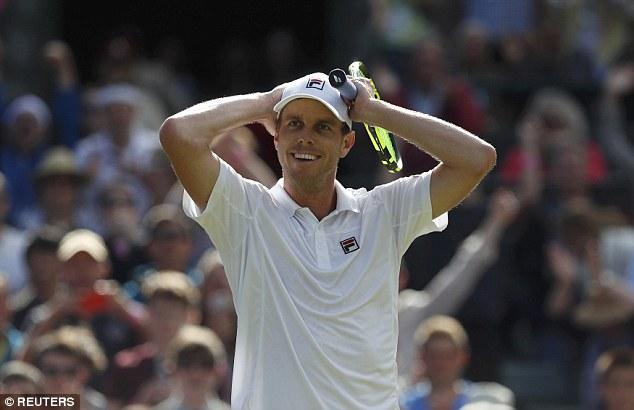 Đến Sam Querrey cũng bất ngờ với chiến thắng của mình trước tay vợt số 1 thế giới