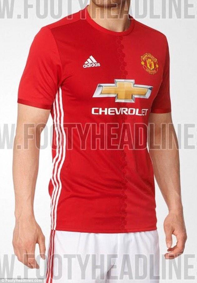 Cận cảnh chiếc áo được cho áo đấu sân nhà của Man Utd