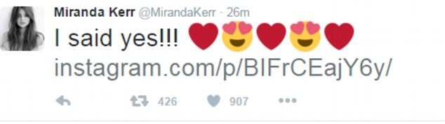 Cô cũng chia sẻ trên tài khoản Twitter