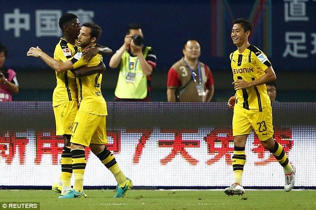 Dortmund giành chiến thắng thuyết phục trước Man Utd