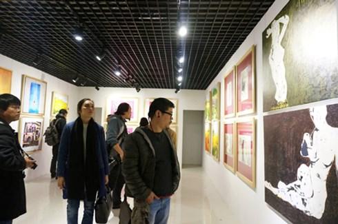 Một góc không gian tại Tết Art 2015. Ảnh: Vnexpress