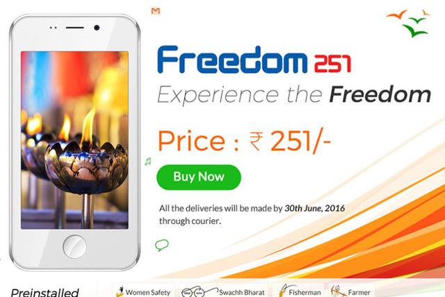 Quảng cáo mới được cập nhật của Freedom 251