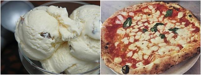Vào ngày chủ nhật Richards-Ross thường thưởng thức những món ăn khoái khẩu của mình là kem và pizza phô mai