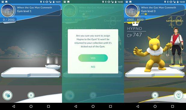 Chọn Pokémon bảo vệ Gym (Ảnh: The Guardian)