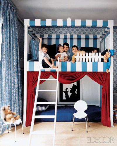 Gợi ý sáng tạo cho căn phòng đơn giản dành cho hai bé trai