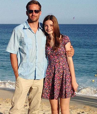 Paul Walker và con gái Meadow.