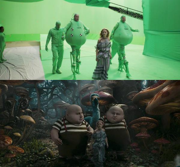 Kỹ xảo đã tạo dựng được cả khung cảnh và nhân vật mang đậm chất kỳ bí, thần tiên cho phim Alice in Wonderland.
