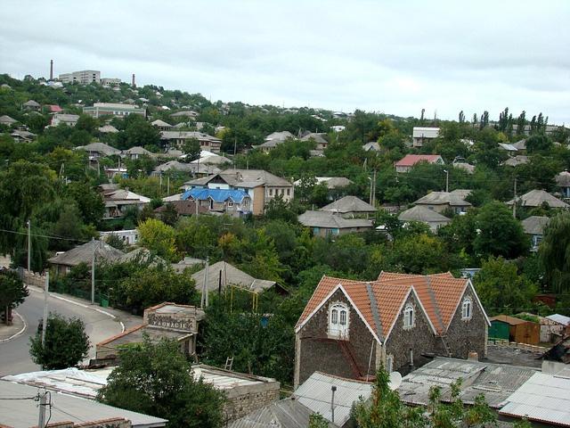 Thị trấn nhìn từ trên cao