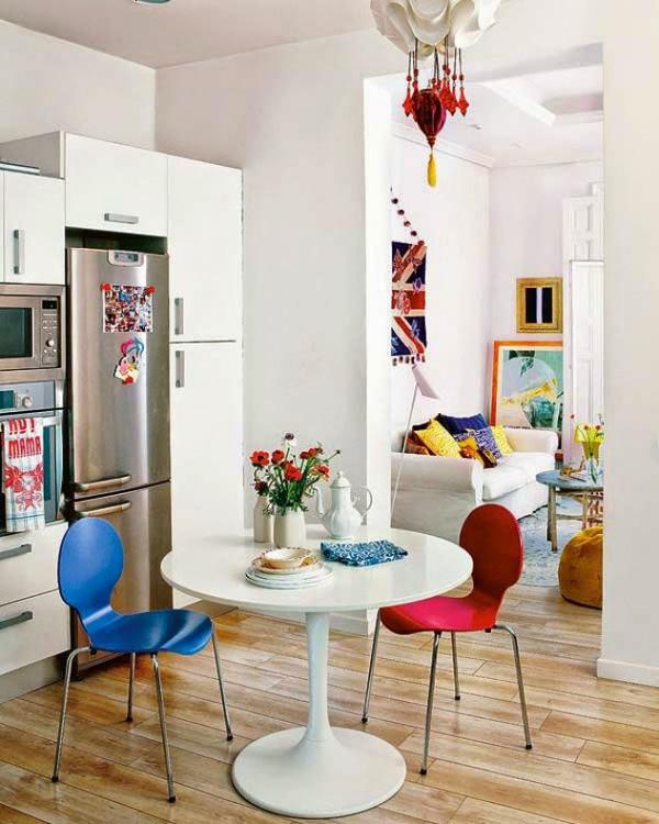 Những chiếc ghế của bộ bàn ăn hoàn toàn có thể trở thành điểm nhấn của căn phòng.
