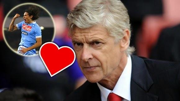 HLV Wenger chưa từ bỏ Cavani
