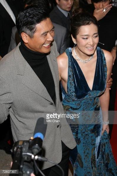 Châu Nhuận Phát và nữ diễn viên CUngr Lợi. (Ảnh: Getty Images)