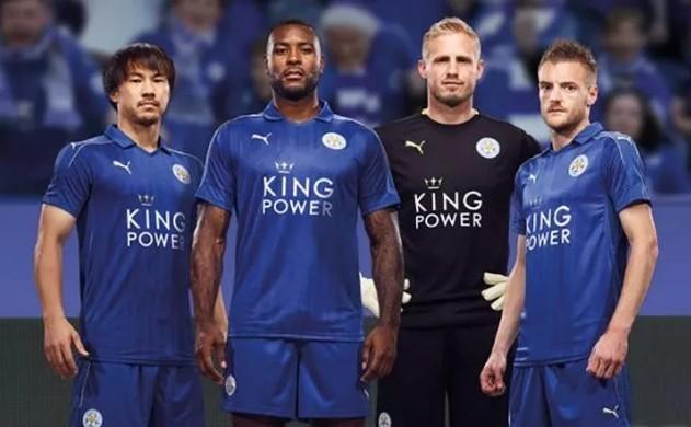 Mẫu áo đấu không có quá nhiều sự thay đổi của nhà ĐKVĐ Leicester City