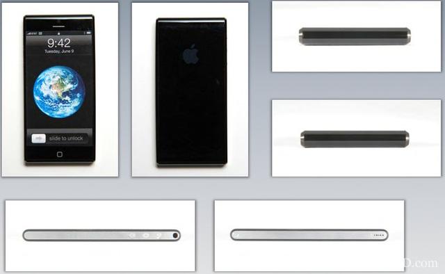 Concept iPhone với loa ngoài và jack cắm tai nghe ở cạnh bên