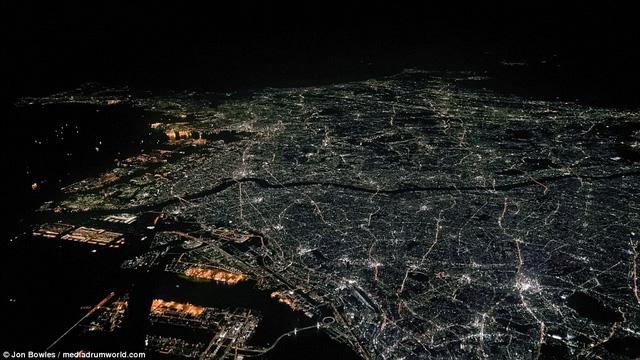 Hình ảnh từ trên cao ở thủ đô Tokyo, Nhật Bản
