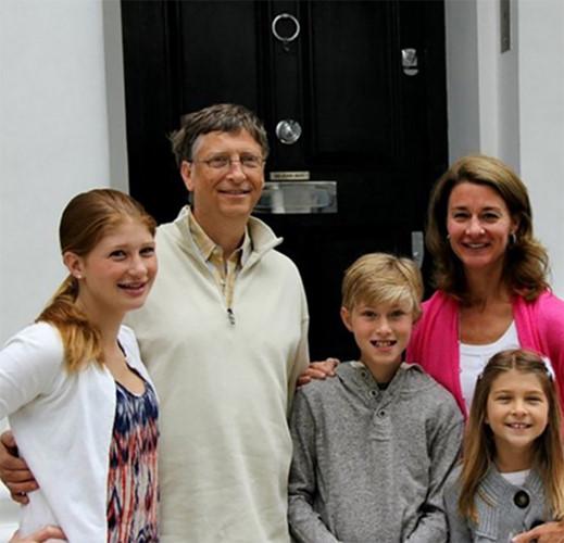 Gia đình hạnh phúc của tỷ phú Bill Gates.