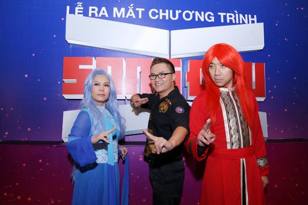 Bộ ba Trấn Thành, Đại Nghĩa và Việt Hương tại họp báo ra mắt Song đấu