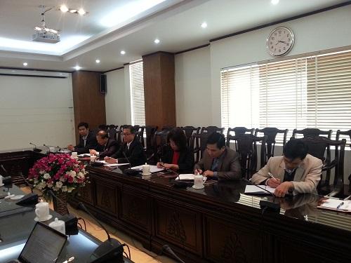Lãnh đạo UBND tỉnh Lào Cai, Đài PT-TH Lào Cai tại buổi làm việc
