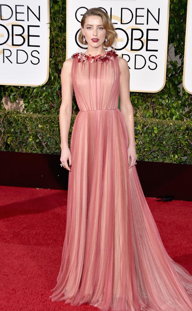 Amber Heard khoe vẻ nữ tính với bộ cánh tuyệt đẹp của Gucci.