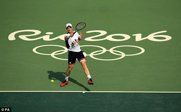 Andy Murray dễ dàng giành vé đi tiếp tại Olympic Rio 2016 nội dung quần vợt đơn nam. Ảnh: PA
