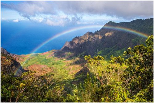 Thung lũng Kalalau, Hawaii nằm trên đảo Kaua'I, nơi nổi tiếng với một trong những bãi biển đẹp nhất thế giới – bãi biển Kalalau. Tuy nhiên khám phá trọn vẹn vùng đất này, bạn chỉ không thể sử dụng bất kì phương tiện nào ngoài đi bộ.