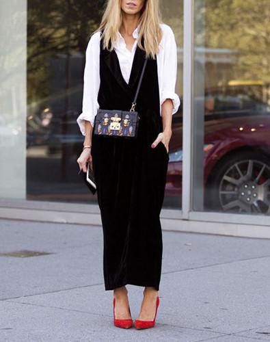 Kết hợp áo sơ mi và váy cũng là một sự lựa chọn hoàn hảo.