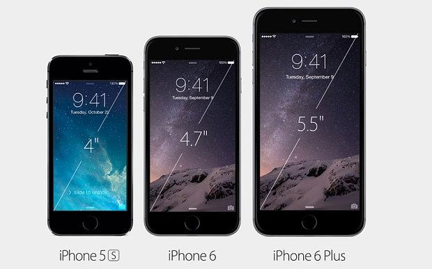 Màn hình iPhone có xu hướng ngày càng to hơn