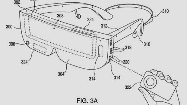 Hình ảnh mô tả kính VR trong bằng sáng chế của Apple
