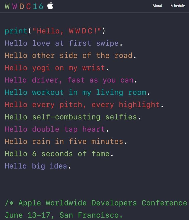 Những dòng mã khó hiểu của Apple về sự kiện WWDC 2016