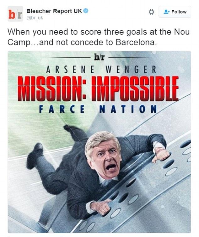 Phải ghi 3 bàn ở Nou Camp quả là nhiệm vụ bất khả thi với HLV Wenger. Và bộ phim đã hạ màn với kết quả không bất ngờ. Ngược lại, chính Barca mới là đội ghi 3 bàn nữa vào lưới của Pháo thủ.