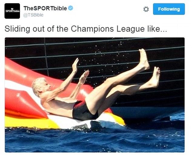 HLV Wenger cùng Arsenal trượt ngã chổng vó khỏii đường đua Champions League.