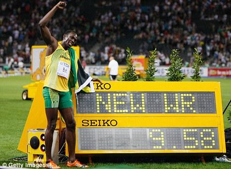 Usain Bolt thiết lập kỷ lục thế giới ở nội dung chạy 100m với thành tích 9 giây 58 vào năm 2009