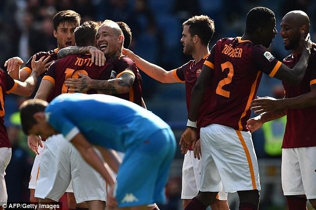 AS Roma đã đánh bại Napoli với tỉ số 1-0.