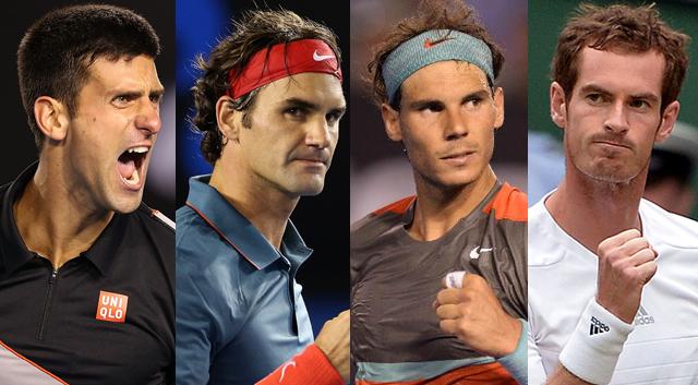 Liệu phần còn lại của nhóm Big Four có cản được Nole (Ảnh: Blog Tennis)