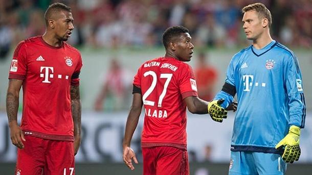 Boateng, Alaba và Neuer là ba trong số bốn nhân tố phòng thủ hay nhất của Bayern.