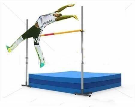 Động tác của Boateng phù hợp với rất nhiều môn thể thao, trong đó có nhảy cao