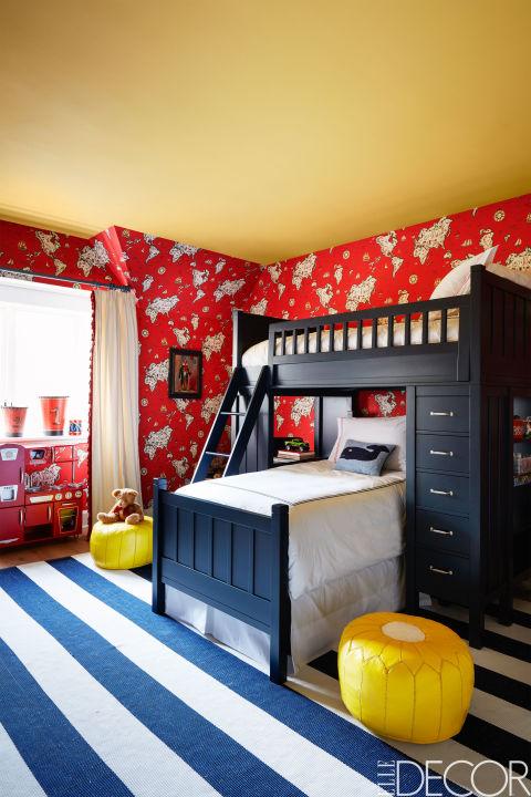 Căn phòng với màu sắc ấn tượng