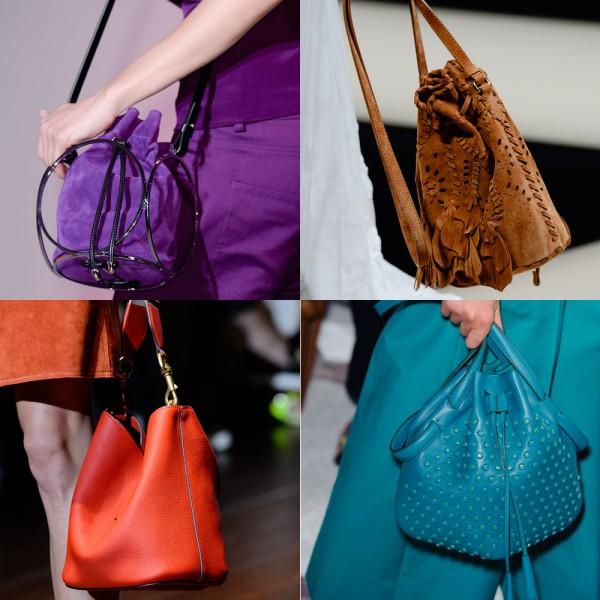 Hay những chiếc túi bucket xinh xắn, dễ thương.